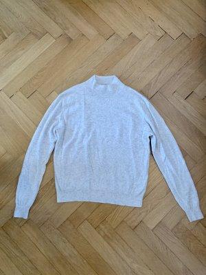 H&M Cashmere Jumper light grey-natural white