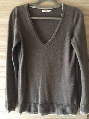 linci Cashmere Jumper grey brown cashmere