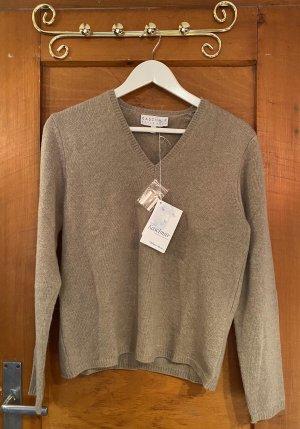 Peter Hahn Kaszmirowy sweter szaro-brązowy Kaszmir