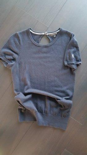 Tara jarmon Short Sleeve Knitted Jacket dark blue cashmere