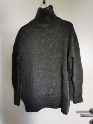 Zara Kaszmirowy sweter ciemnoszary-antracyt Kaszmir