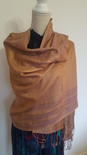 Pashmina Cashmere Scarf gold-colored-light brown