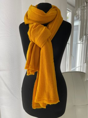Écharpe en cachemire orange clair-orange