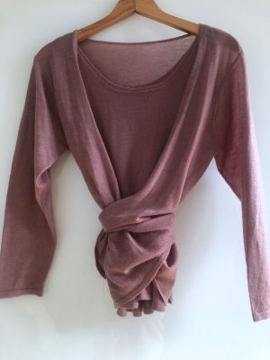 Knitted Twin Set dusky pink cashmere