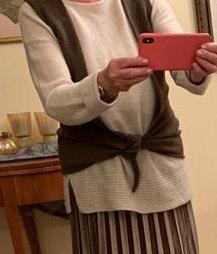 world of cashmere Chaleco de punto marrón claro Cachemir