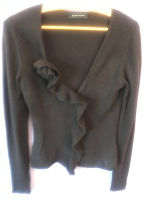 Bruno Manetti Knitted Bolero dark brown cashmere