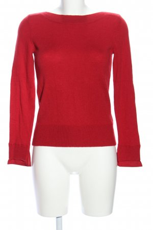 Caroll Knitted Sweater red mixture fibre