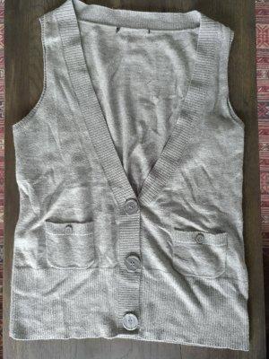 H&M Gilet tricoté gris