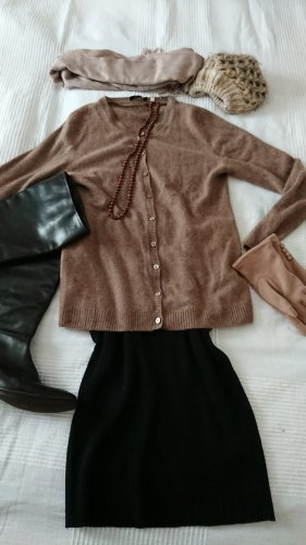 Kaschmir WESTE Pullover 38 taupe M