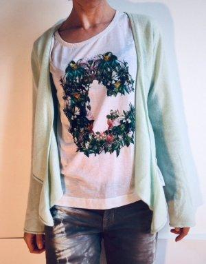 Dawson Cashmere Company Cache-cœur en tricot vert menthe