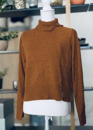 H&M Premium Pull tricoté cognac-brun cachemire
