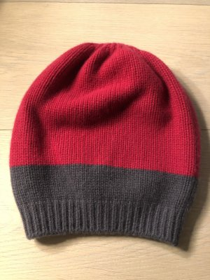 Baker's Boy Cap raspberry-red cashmere