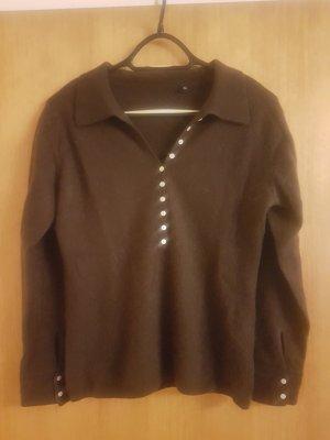 Pullover in cashmere marrone scuro Cachemire