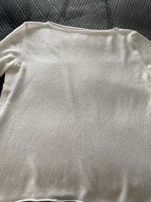 Annalisa Bucci Kaszmirowy sweter w kolorze białej wełny