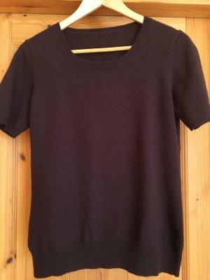 Pullover in cashmere marrone scuro