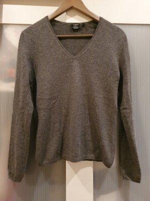 Yorn Kaszmirowy sweter szary-ciemnoszary Kaszmir