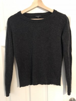 Selected Femme Pull en cashemire gris anthracite