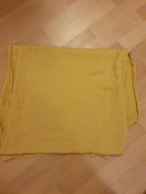 Écharpe en cachemire jaune-orange doré