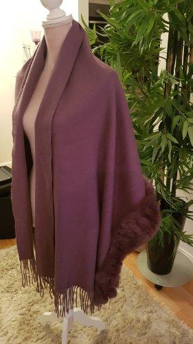 Sjaal van kasjmier stoffig roze