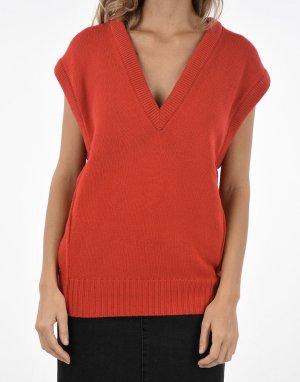 Chloé Gilet tricoté rouge