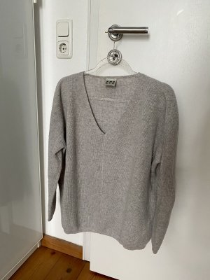 Amorph V-Neck Sweater light grey-grey cashmere