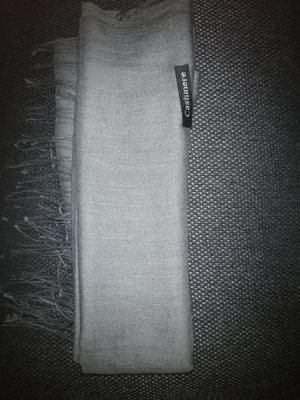 Cashmere Écharpe en cachemire gris-gris foncé cachemire