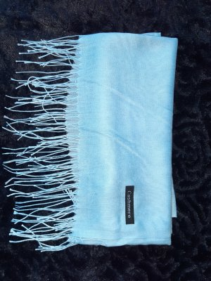 Cashmere Bufanda de cachemir azul celeste-azul aciano