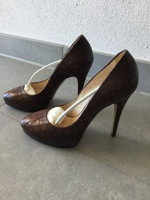 Casadei High Heels cognac-coloured leather