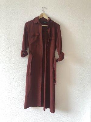 Kastanienrotes Kleid/ leichter Mantel