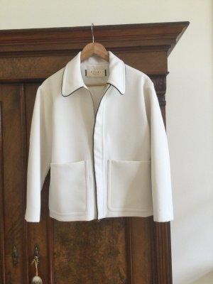 Marni Krótka kurtka biały-czarny Bawełna