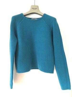 COS Pull ras du cou turquoise laine