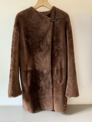 V.SP Vespucci Short Coat brown-light brown leather