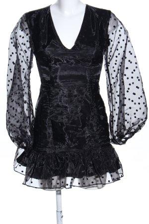 katch me Blusenkleid schwarz Punktemuster extravaganter Stil