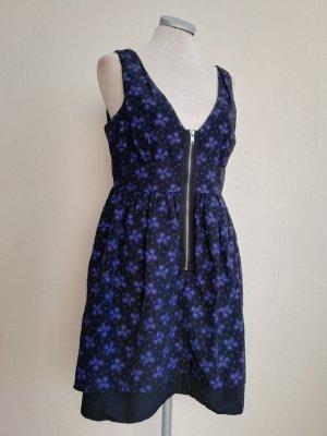 Kate Moss for Topshop Kleid Gr. EUR 40 UK 12 M L schwarz lila gemustert lässig