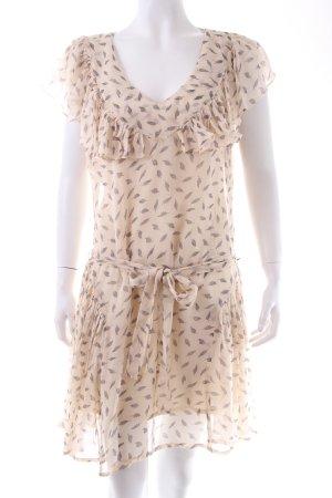 Topshop Flounce Dress black-beige viscose