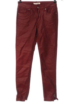 Kate Paris Stretch broek rood casual uitstraling