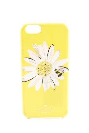 Kate Spade Handytasche blassgelb-weiß Blumenmuster Casual-Look
