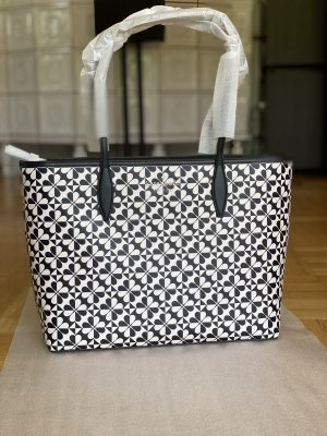 Kate Spade hollie spade clover geo black multi large tote *new*