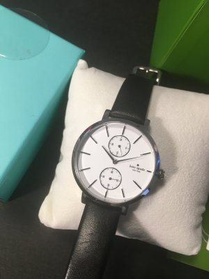 Kate Spade Self-Winding Watch white-black leather