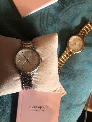 Kate Spade Zegarek z metalowym paskiem srebrny-złoto Metal