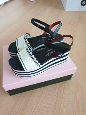 Kate Spade Platform Sandals white-black leather