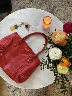 Kate Spade rote Lederhandtasche