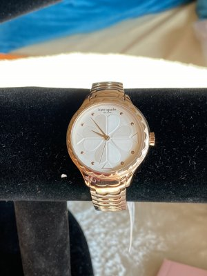 Kate Spade Watch With Metal Strap rose-gold-coloured-silver-colored