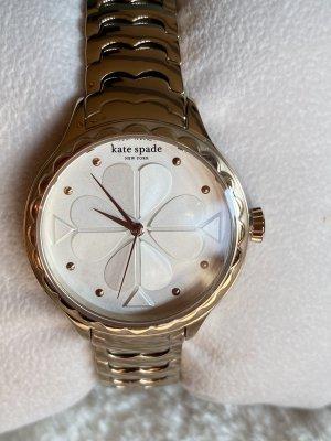 Kate Spade Zegarek z metalowym paskiem w kolorze różowego złota-srebrny