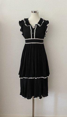 Kate Spade Sommerkleid Midi Kleid Silk mit Spitze 36 S