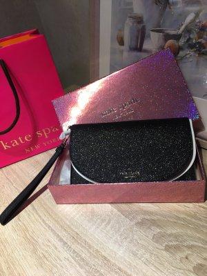 Kate spade Tasche / Clutches schwarz mit Glitzer
