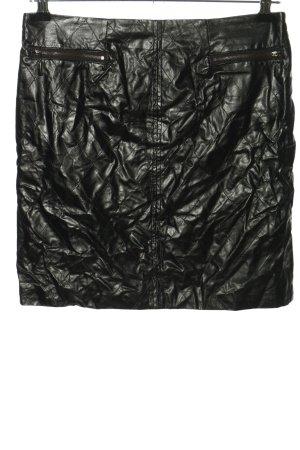 kate storm Kunstlederrock schwarz Steppmuster extravaganter Stil