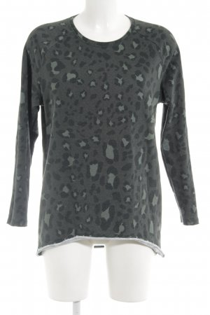 kate storm Sweatshirt dunkelgrün Leomuster Casual-Look