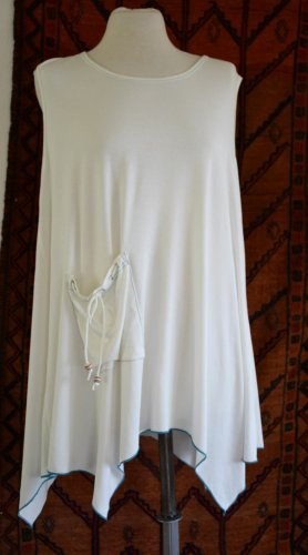 Tunic natural white viscose