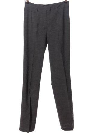 Kathleen Madden Pantalone largo grigio chiaro puntinato stile professionale